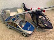 Playmobil Polizeiauto und Helikopter