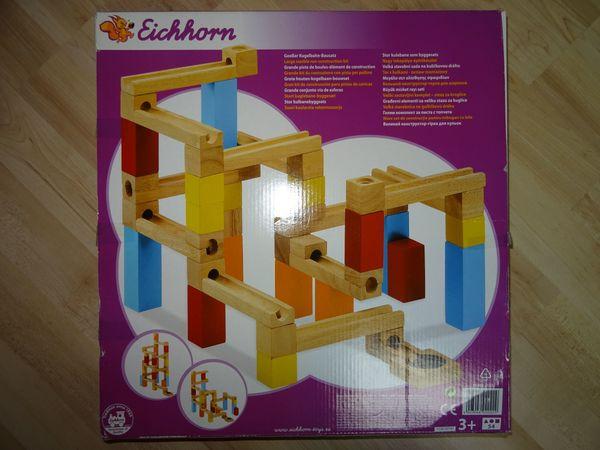 Holzspielzeug Kugelbahn Murmelbahn Eichhorn