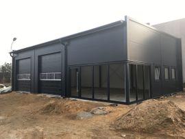 Büros, Gewerbeflächen - Stahlhalle Werkstatthalle Gewerbehalle Lagerhalle mit