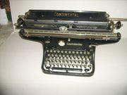 alte Schreibmaschine Continental Wanderer Chemnitz