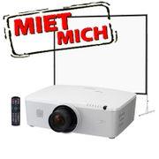 Beamer Leinwand TV Kamera leihen