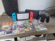 Nintendo Switch mit diversen Spielen