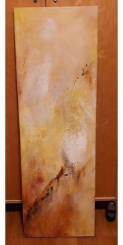 Öl- Gemälde - Abstrakt Gelb und