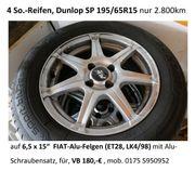 4 SommerReifen Dunlop SP