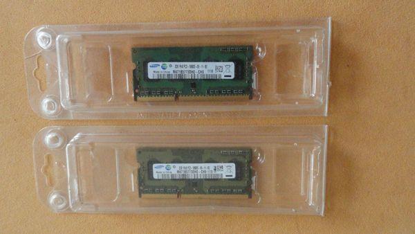 2 Samsung M471B5773DH0-CH9 Notebookspeicher 1333