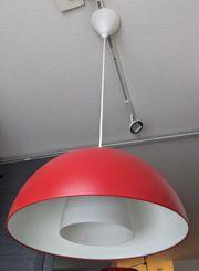 Ikea Lampe rot