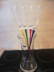 Sekt- Spießgläserset mit Glaskübel orig