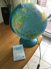 Illustrierter Globus mit Beschreibung Tecnodidattica