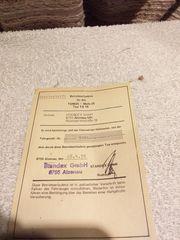 Biete alte Betriebserlaubnis von Tomos