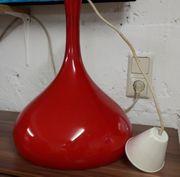 70er Jahre Lampe rot vintage