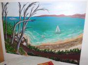 Gemälde Bild Ostsee Meer Strand