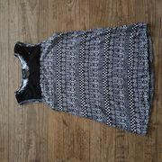 Top Shirt Bluse schwarz-weiss Gr