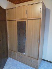 Kleiderschrank Schlafzimmerschrank mit Spiegel - Schiebetüren