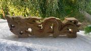 Asiatika Drache Holz Holzrelief China