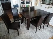 Esstisch Massiv-Holz mit 6 Stühlen