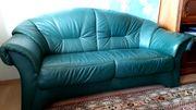 Ledercouch mit Sessel zu verschenken