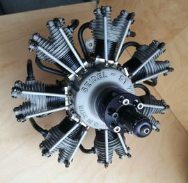 RC-Modelle, Modellbau - Seidel 7 Zylinder Sternmotor ST
