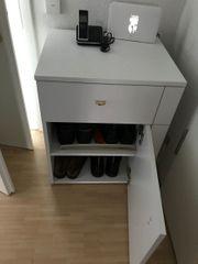 Telefontisch kleiner Schuhschrank weiß