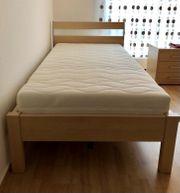 2 Betten 100x200 in Buche