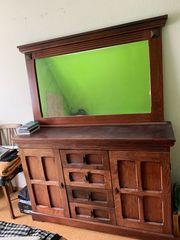 Sideboard mit Spiegel braun