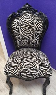 Stuhl Barock Zebra Muster