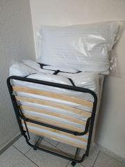 Gästebett klappbar mit Matratze 80x190x12