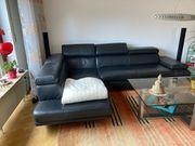 Couch Echtleder schwarz wegen Umzug