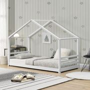 Bett Kinderbett weiß lackiert B90cm