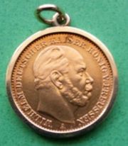 5 Gold-Mark von 1877 Wilhelm