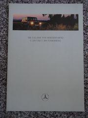 Mercedes G-Klasse Prospekt G320 und