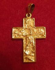Gold-Kreuz 333-Gold neuwertig