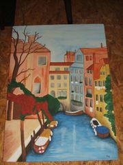 Aquarellbild Motiv Venedig