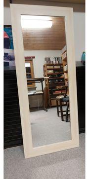 Wandspiegel weiß 136x55mm