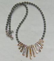 Halskette Hämatit-Pauamuschel