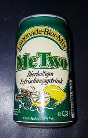 Leere Sammel Dose McTwo - Limonade - Bier -