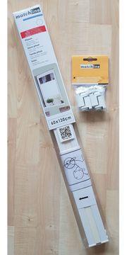 Matchline Plissee weiß - 60x130 cm