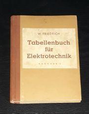Tabellenbuch für Elektrotechnik 1947