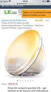 Philips Wecker mit Sonnenaufgang