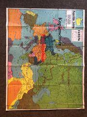 Friedenskarte Europa - historische Landkarte Besetzte-