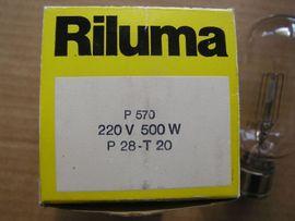 Projektionslampe Riluma 220V 500W - Glühbirne: Kleinanzeigen aus Weil am Rhein - Rubrik Lampen