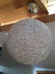 Hängelampe aus Kunststoff in Glasoptik