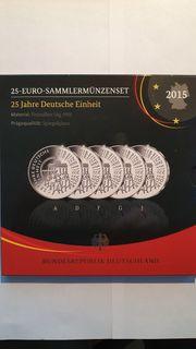 5 x 25 Euro-Sammlermünzenset 25