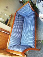 Schöne Couch Sofa blau - Biedermaier