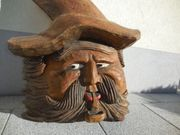 Geschnitzter Holzkopf alt