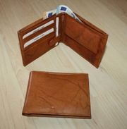 Herren Leder Geldbörse Geldbeutel Brieftasche