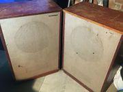 Paar Tannoy Lancaster-Lautsprechergehäuse mit Tannoy-Lautsprechern