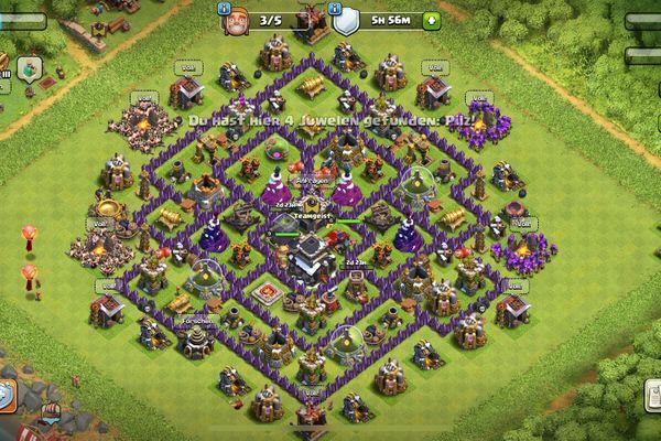 Clash of Clans Dorf RH