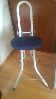 Bügelstuhl Stehhilfe klapp- und höhenverstellbar