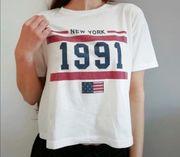 T-shirt mit New York Aufdruck