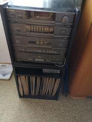 Stereoanlage mit Plattenspieler